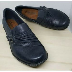 11a0b4c1d185e New Balance · Cobb Hill 6.5 W Wide leather slip on wedge loafers